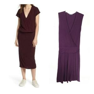 James Perse Suplice Jersey bluson plum size 4